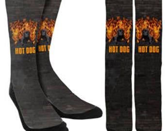 Hot Dog Crew Socks - Mens Funny Socks - Womens Funny Socks - Crazy Socks - Funny Socks -  - Novelty Socks - Unique Socks - FREE Shipping C31