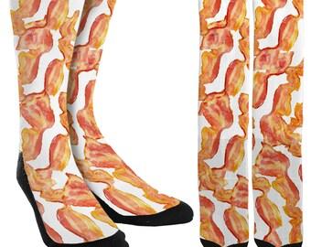 Bacon Socks - Bacon Clothing - Funny Socks - Groomsmen Socks - Mens Unique Clothing -  Mens Funny Socks - 100% Comfort-FREE Shipping C36