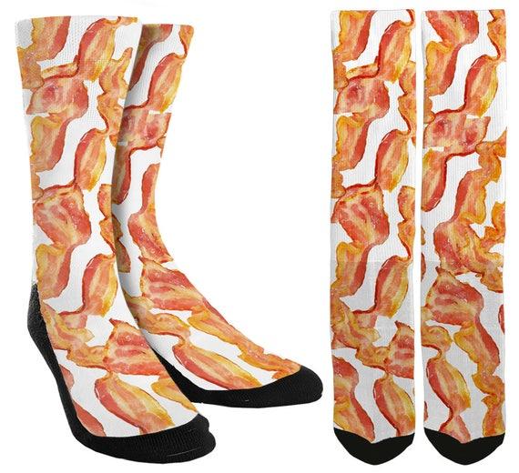 Bacon Socks Bacon Clothing Mens Funny Socks Groomsmen  b4ef1e20f0