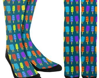 Popsicle Socks - Crazy Socks - Cute Socks for Women - Cute Socks for Girls - Novelty Socks - Unique Socks - Fancy Socks - FREE Shipping C03