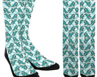 Pugs Crew Socks - Pug Socks - Socks with Pugs - Funny Socks - Crazy Socks - Cute Socks - Unique Socks - Novelty Socks -FREE Shipping I29