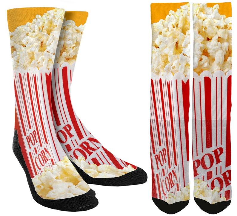 78bdde26bd006 Popcorn Crew Socks Popcorn Crew Socks Unique Socks | Etsy