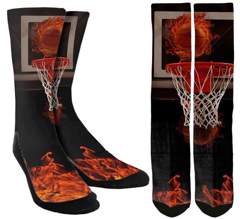 best website 90f2e cd158 Boys   Mens Basketball Socks Crazy Basketball Socks Cool   Etsy