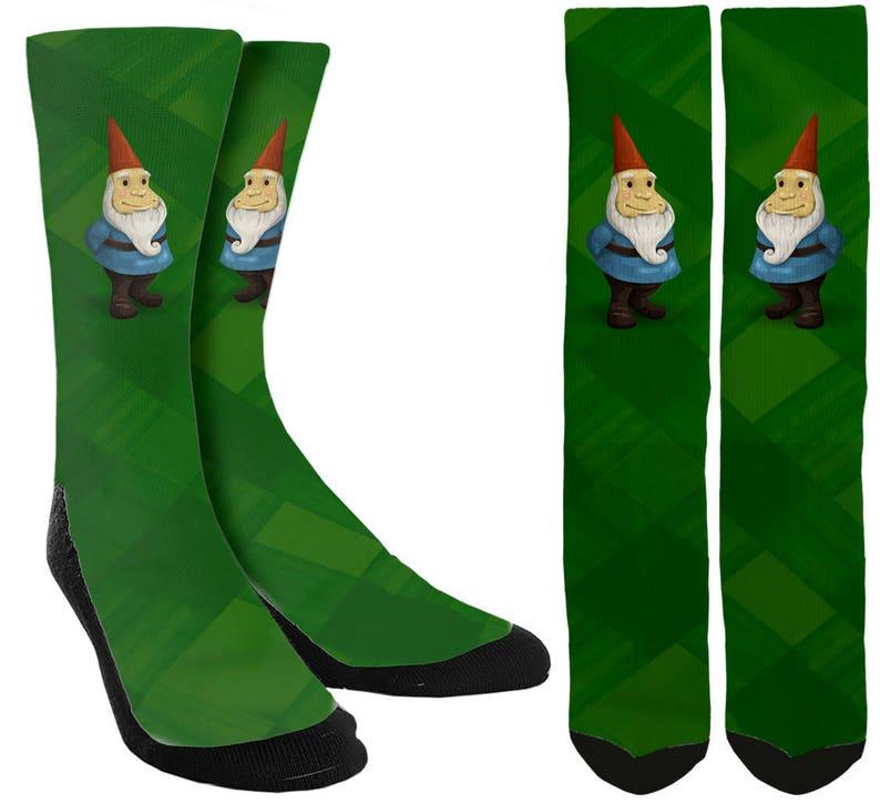95bf586f538 Gnome chaussettes Crew Socks chaussettes mignons drôle