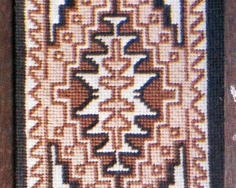 Etsy your place to buy and sell all things handmade navajo rug two grey hills cross stitch kit native american indian rug diy vintage graphkits gift for her do it yourself home decor solutioingenieria Gallery