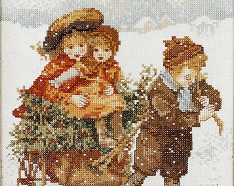 Etsy your place to buy and sell all things handmade cross stitch kit victorian children christmas tree lanarte art holland vintage stitchery kit gift for her do it yourself home decor solutioingenieria Gallery