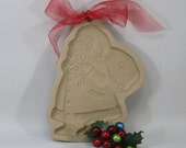 1989 Santa, Kris Kringle, St Nick Brown Bag Cookie Mold Cutter Craft Mold