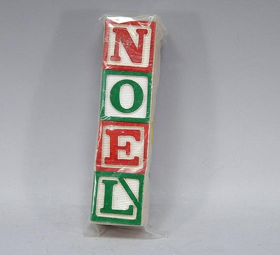 Noel diy wood blocks drilled one inch do it yourself etsy image 0 solutioingenieria Gallery