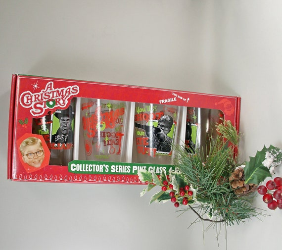 A Gift For Christmas Story.4 A Christmas Story Pint Glasses Movie Memorabila