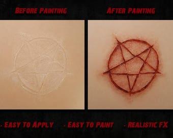 Freshly Cut Occultic Symbol Prosthetic (Latex Free)