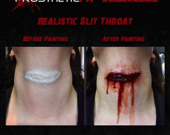 Realistic Throat Slit Prosthetic (Latex Free)
