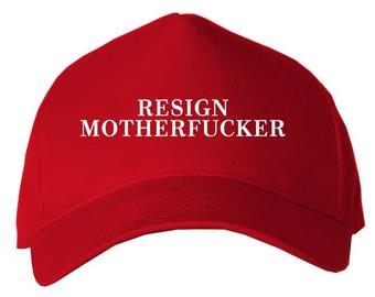 Resign Motherfucker Anti Trump Cap Red 5568cec75507