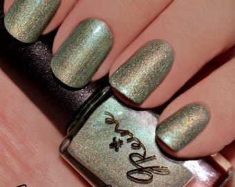 Swampin - Green Golden Multichrome Holographic Nail Polish