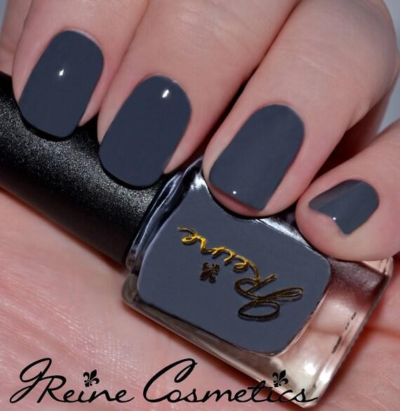 Deep Matter Grey Violet Creme Nail Polish Gray violet