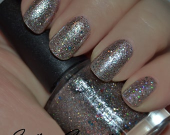 Quarter Chaos (Discontinuing) - Multicolored and Holographic Glitter Nail Polish