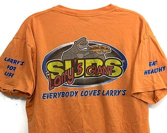 Larry s Giant Subs Tshirt Gorilla Channel 2-Sided Graphic Tee - Larry s  Subs Shirt Size M - Florida Restaurant Chain for Sub Sandwiches 28b4e2c7d