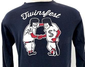 90s Twinsfest Shirt - Minnesota Twins MLB Logo Long Sleeve Graphic Tee -  Twins Baseball Fan Festival TShirt Men s L 100% Cotton Tee 61e018b94