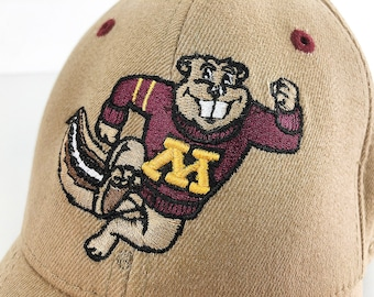 quality design 423d4 bef42 90s Minnesota Gophers Cap Golden Gophers Vintage Trucker Hat - Tan  University of Minnsota Mascot One Fit Cap by Top of the World