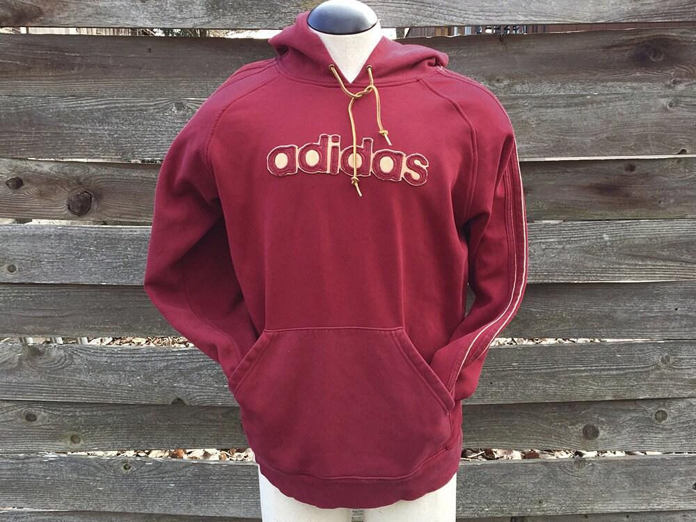adidas hoodie maroon