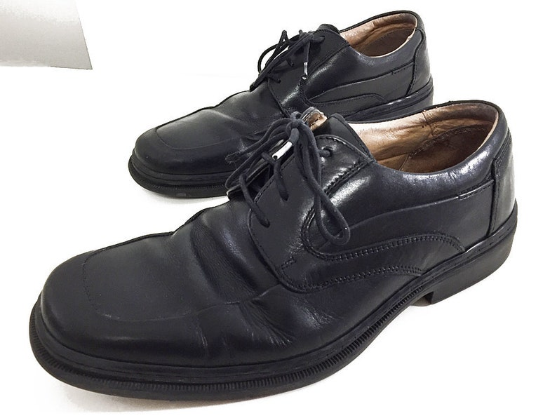 5feadc8235e0e Italian Leather Shoes Black Oxfords Mens 8 - Vintage Bostonian Shoes - 90s  Fashion Mens Dress Shoes