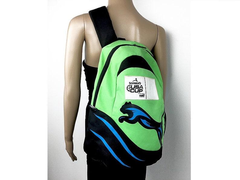 Puma Cross Bag Sling Backpack For Women Or Men In Lime Green Etsy