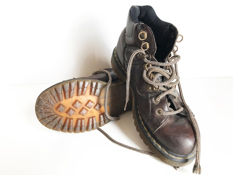 f9c99a78c4e52 90s Doc Martens Hiking Boots Worn In DM's - Brown Dr Martens Ankle Boots  Combat Boots Punk Rocker Soft Grunge Shoes Mens 10 - 90s Fashion