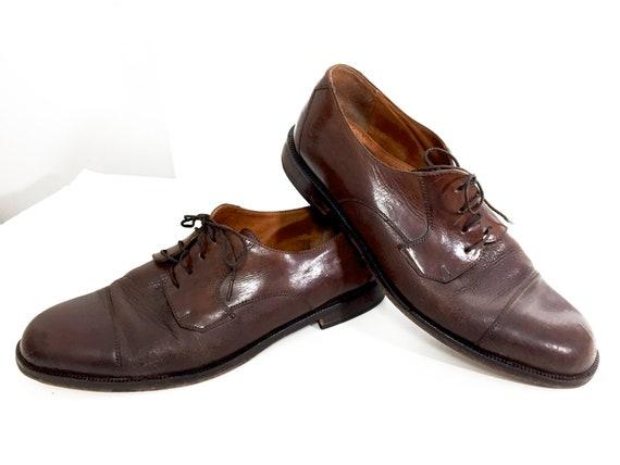 Italian Leather Shoes Calf-Skin Oxfords Mens 9.5 C