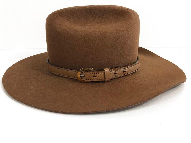 3ea2b65d529bb 60s Smithbilt Cowboy Hat Size 6 7 8 Brown 3X Felt
