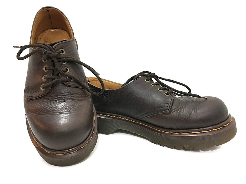 0f7ee5e9a3831 90s Doc Martens Oxfords Coffee Brown Punk Rocker Shoes Womens 8.5 Dr  Martens Made in England - 90s Grunge Fashion UK mens 6 US Mens 7