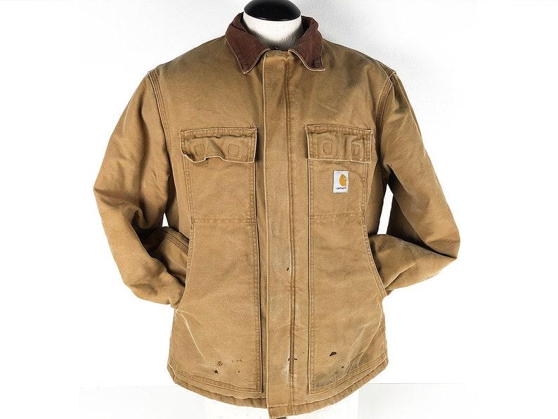 96d24436 Vintage Carhartt Work Jacket Distressed 80s 90s Tan Workwear | Etsy carhartt  workwear norway
