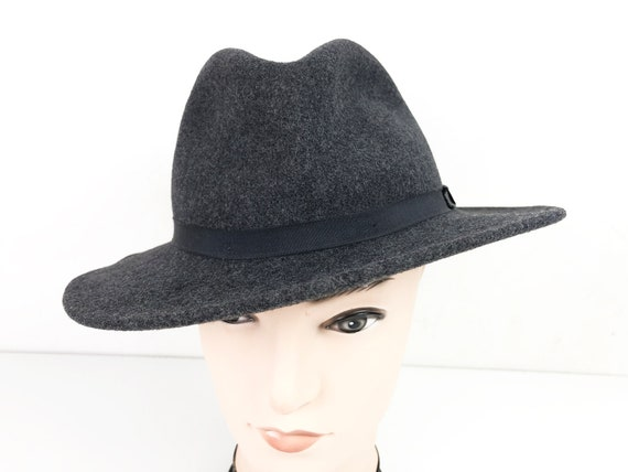 Trilby Hat Gray Fedora 70s Vintage Country Gentlem