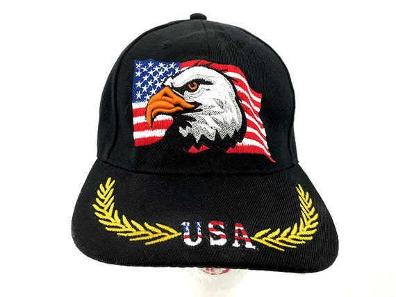 USA Eagle American Flag Cap Vintage Trucker Hat USA  c99a31971c4