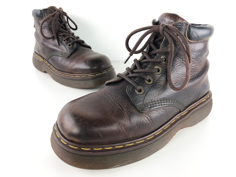589405c7c5e52 90s Ankle Boots Brown Leather Boots Hiking Boots Mens 10.5 - Dr Martens,  Round Toe Doc Martens Boots Chocolate Brown Combat Boots