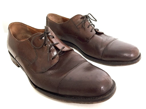 Calf-Skin Oxfords Italian Leather Shoes Mens 9.5 C