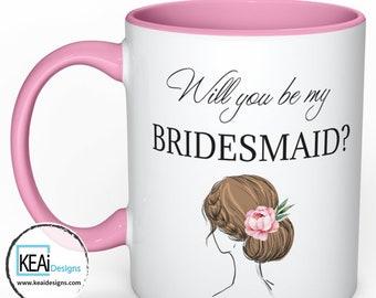 Will you be my Bridesmaid Custom Mug // Bridal Party Proposal // Ask Bridesmaid // Bridesmaid Proposal // Custom Mug //Wedding - KEAiDesigns