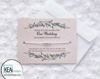 Bulk - Star Wish Bracelets as Wedding Favors // Star Wish Bracelets as Wedding thank you cards // Wedding favors // Handmade - KEAiDesigns