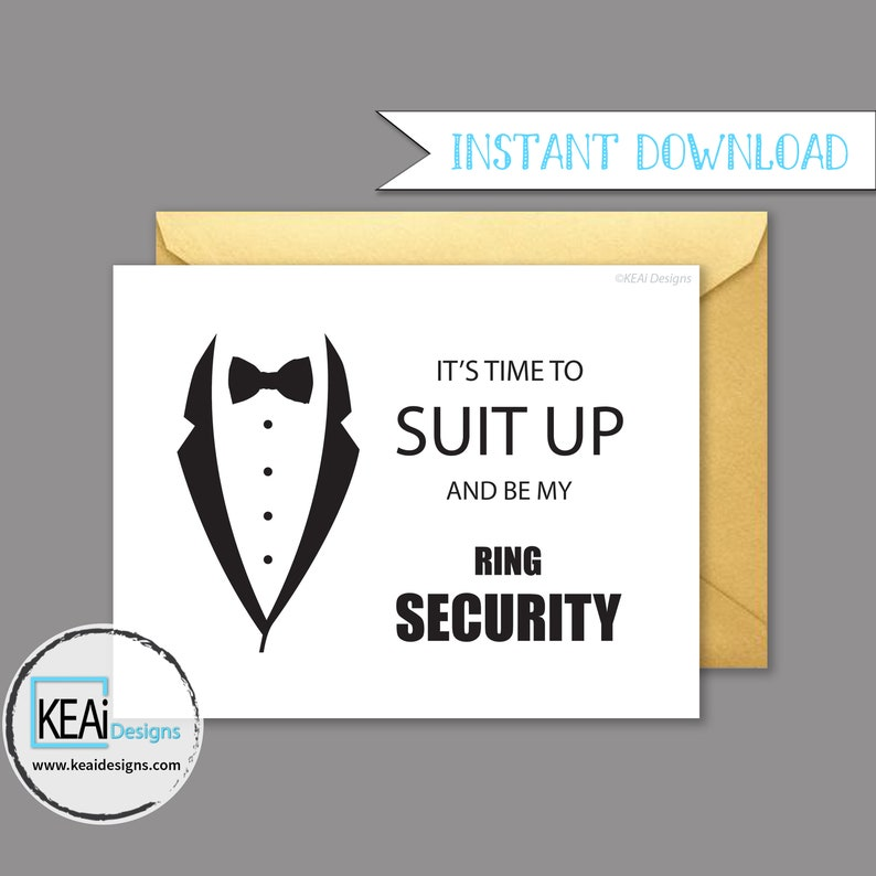 Ring Security // Will You Be My Ring Bearer // Will You Be my image 0