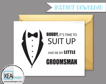 Will You Be My Ring Bearer // Will You Be my Little Groomsman // Ask Ring Bearer Instant Download // DIY Wedding- KEAiDesigns