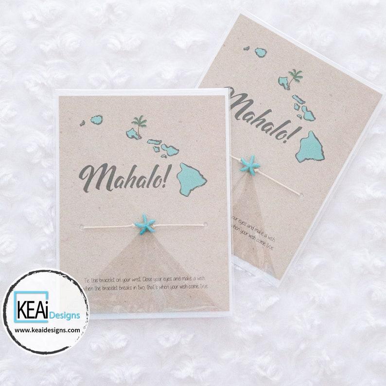 Bulk  Starfish Hawaii Wish Bracelets as Wedding Favors // image 0