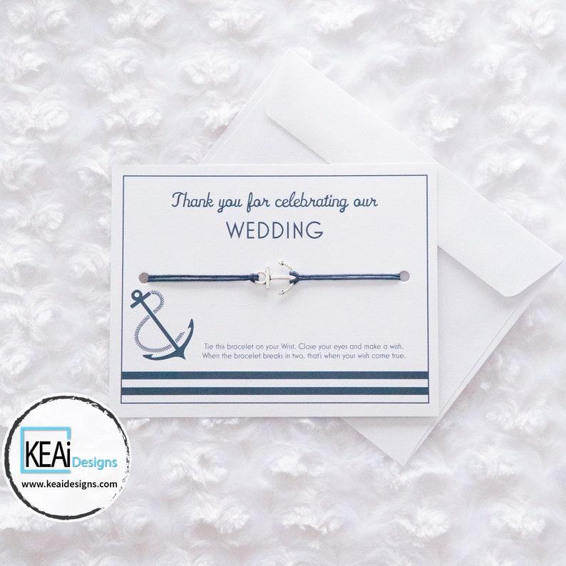 Bulk  Nautical Anchor Wish Bracelets as Wedding Favors // image 0