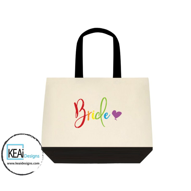 LGBTQ women matching tote bags for BRIDES // Brides Tote Bag image 0