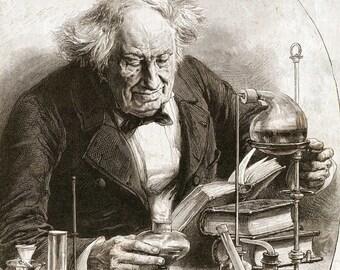 Chemistry Alchemy Vintage Print 18 - Science Art - Science Picture - Chemistry Art - Biology - Chemistry Picture - Office Decor (VP1011)