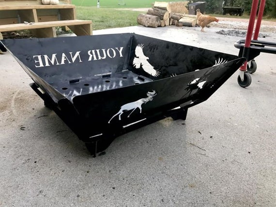 Custom Portable Personalized Fire Pit, Camping Fire Pit,Camper Christmas Gift, FREE Personalization