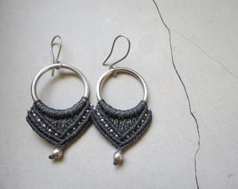 Handmade macrame and sterling silver earring. Limited availability!