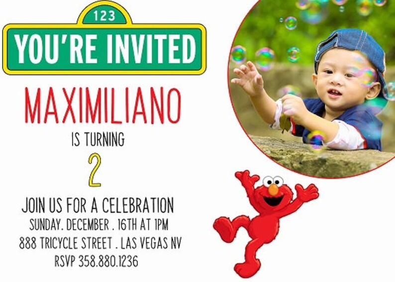 Elmo Invitation Birthday