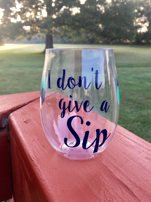Personalized Acrylic Stemless Wine Glass-Girls Gift Girls