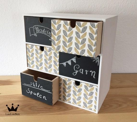 Beschriftbare Mini Kommode Mit Tafellack Box Minikommode Etsy