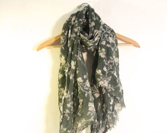 Large Floral Scarf