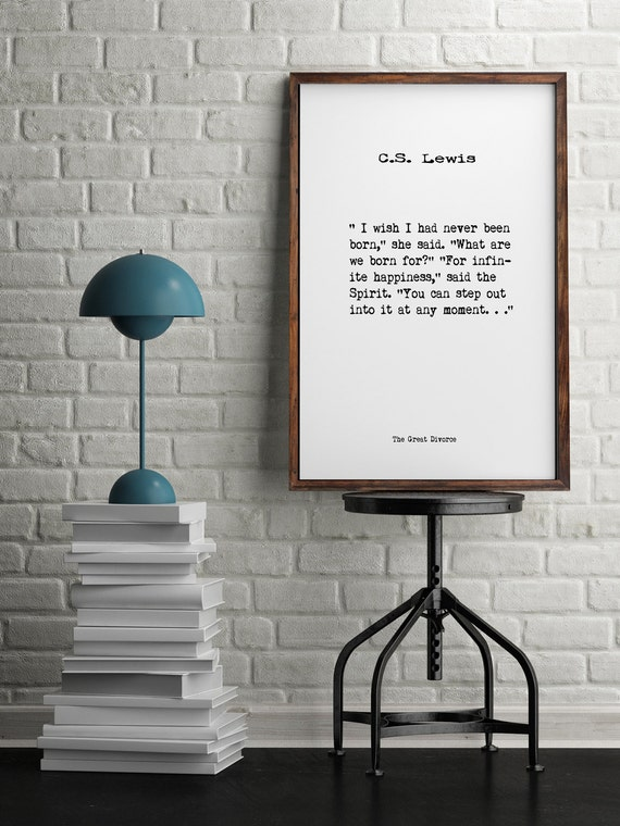 c s lewisbook quotes wall art home decor inspiring quotes