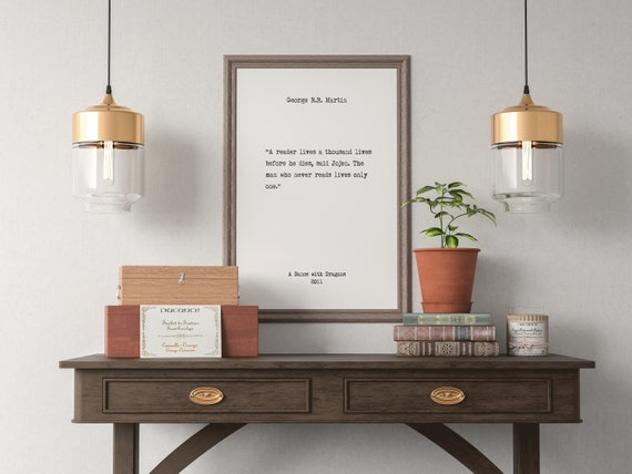 george r r martin book quotes wall art home decor